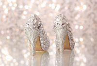 beaded wedges - PPaillette Women s Wedding Stiletto Heel Heels Pumps Heels With Rhinestone Shoes