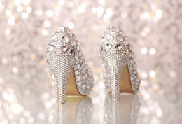 PPaillette Women's Wedding Stiletto Heel Heels Pumps Heels With Rhinestone Shoes