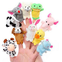 animals group - Retail Baby Plush Toy Finger Puppets Talking Props animal group