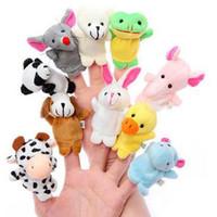 Розничная Детские игрушки плюша Finger Puppets Talking Реквизит группа свободная перевозка груза 10 животных