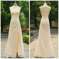 Cheap Real Picture ZAHY DHgate Evening Dresses Prom Dress Strapless Floor-Length Chiffon Evening Gowns Sleeveless Pleated 2014 New Arrival SZJ41
