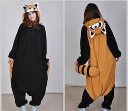 Wholesale Raccoon Kigurumi Pajamas Animal Suits Cosplay Outfit Halloween Costume Adult Garment Cartoon Jumpsuits Unisex Animal Sleepwear