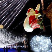 tail plug - 10M LED White Lights Decorative Christmas Party Festival Twinkle String Lamp Bulb With Tail Plug V EU