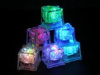 Wholesale Litecubes RAINBOW Switch Light up LED Ice Cubes Not disposable mmx32mm Big Size with colors DROP SHIPPING
