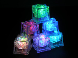 Wholesale Christmas Decoration Lighted Ice Cubes - Litecubes RAINBOW Switch Light up LED Ice Cubes Not disposable 32mmx32mm Big Size with 6 colors DROP SHIPPING