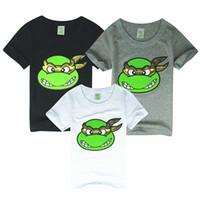 Wholesale Cool Cartoon Shirts - Boys teenage mutant ninja turtles t-shirts cool summer short sleeved cartoon t-shirts tops B009