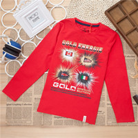 Cheap boy was born in autumn and winter long-sleeved T-shirt 2014T shirt Kids Korean boy clothes