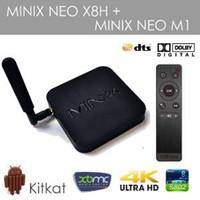 Wholesale Genuine Real Original MINIX NEO X8 H X8H Android TV Box Amlogic S802 H Quad Core GHz GB DDR3 GB Flash G GHz WiFi XBMC Player