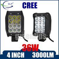 atv quad - 36W CREE LED Work Light Bar Spot Flood Combo Beam For Off road Driving Fog ATV SUV Quad Row IP67 V DC