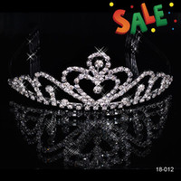 Cheap Cheap Crystal Rhinestone Crown Tiaras & Hair for Wedding Prom Bridal Accessories Band Jewelry Best Selling Free Shipping 2014 In Stock 18012