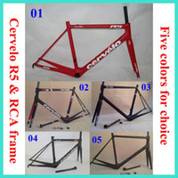 Wholesale 2014 CEVERLO RCA R5 Carbon Road bike Frame Frames carbon bike frame with fork seatpost clamp headset Racing Bicycle Frameset colors