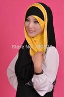 hijab - H744 latest fashion muslim long hijab islamic scarf fast delivery no rhinestones