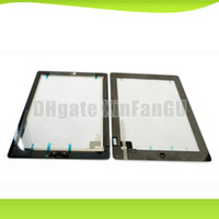 For Apple tablet replacement screen - Tablet replacement screen for ipad2 touch screen black white with digitizer home button M sticker