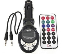 Wholesale Car Mp3 player with Fm Transmitter Modulator Atuio Cables Wireless Remote Control USB SD MMC for cars