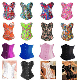 Wholesale Hot Selling Overbust Corsets Boned Bustiers Floral Print Women Sexy Lingerie SV003230 SV002347 SV003891