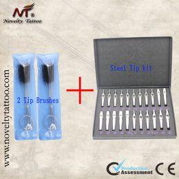 Wholesale Hot Sale Sizes Pro tattoos tip kit Stainless Steel Tips or Needles Set Kit tattoo supplies