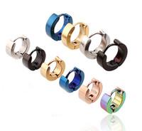 Wholesale Mix hot sale stainless steel earrings clip channel earrings