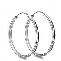 Wholesale Orsa Jewelry Fashion Sterling Silver Earring mm Hoop Earring Style Trendy Design Fashion Earring Accessories OE09