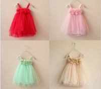 baby girls dress designs - New Girls Dresses Cute Baby Girls Lace dress Wedding Dresses Design Kids Dress Children Clothing Baby Party Dresses Tutu Dress WD153