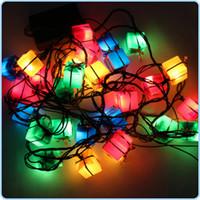 decorative fruit - LED Strings Christmas Fruit Strings Fruit Gift Box Shape Christmas Tree Light LED Decorative Lights Holiday String Lights Festival Strings