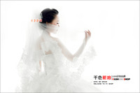 Wholesale 2014 Wavy Lace Meters Long Paragraph Bulk Yarn Lace Bridal Veil Trailing Wedding Veil Wedding Accessories