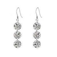 Dangle & Chandelier Silver Celtic Luxury Naked Austrian Crystal,SWA Elements,Earrings for Women OE10