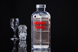 Wholesale Absolute Vodka Alcohol Bottle Transparent TPU Gel Crystal Clear Snap On Soft Case Cover for iphone5 iphone G S G Plus