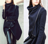 Wholesale Details about Fashion Womens Slim WOOL Warm Long Coat Jacket Trench Windbreaker Parka Outwear