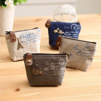 Wholesale 2014 new canvas bag Coin keychain keys wallet Purse change pocket holder organize cosmetic makeup Sorter