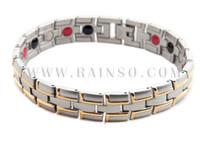 Wholesale Healing Magnetic Bracelet Men Woman L Stainless Steel Health Care Elements Magnetic FIR Germanium Gold Bracelet Hand Chain