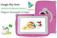 Wholesale Kids Pre school Tablet PC Inch Dual Core RK2926 Android MB GB GHz Dual Camera WIFI MINI Tablet With Eduactional APP Games