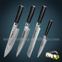 Wholesale Huiwill high quality Japanese VG10 Damascus steel professional kitchen knife set