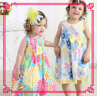Wholesale 2014 New Fashion Kids Cotton brand name clothes Peter Pan Collar Sundress Blue Princess girl Dress High quality
