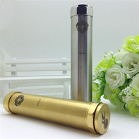 Wholesale King mod mechanical mod clone stainless steel brass Locking Bottom Button mech mod fit thread atomizers RBA ego E cigarettes
