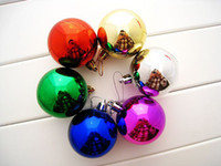 Wholesale Diameter cm Christmas New Year Balls Plating Tree Decoration Purple Ornaments Ball Sphere XMAS Craft Mixed Color