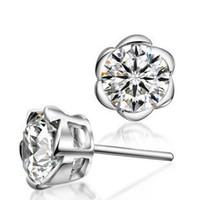 Stud austria crystal stud earring - ORSA Trendy Austria Crystal Earring Stud Genuine SWA Elements Sterling Silver Hot Sale Earring OE14