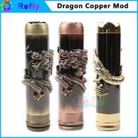 Cobre vaporizador mod Baratos-E cigarrillo vaporizador Mod Vape cobre mecánica Mod para batería 18650 dragón Loong Mod cigarrillo electrónico Refly