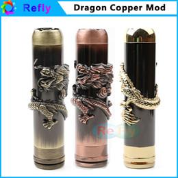 E cigarrillo vaporizador Mod Vape cobre mecánica Mod para batería 18650 dragón Loong Mod cigarrillo electrónico Refly desde cobre vaporizador mod fabricantes