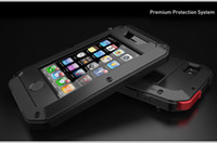 Wholesale for iPhone S EXTREME Dropproof Dirtproof Aluminum Case for iPhone S Metal Cover Gorilla Glass Retail Packaging