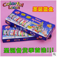 Wholesale Rainbow Loom Rubber Bands DIY Kit Loom S Hook Promotion Price Red color Retail Package Christmas By DHL Fedex Fast shipping