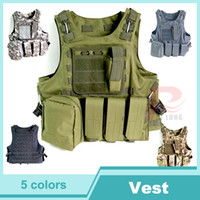 Unisex military equipment - 2014 New Tactical Vest Molle Combat Strike Plate Carrier Vest Steel Wire Vest Outdoor Military Equipment D HT13