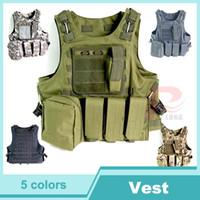 Wholesale New Tactical Vest Molle Combat Strike Plate Carrier Vest Steel Wire Vest Outdoor Military Equipment D HT13