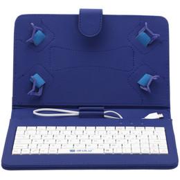 Soportar pulgadas en Línea-iRULU caso del soporte del cuero del teclado de 7 pulgadas para 7 pulgadas 8 pulgadas 7.7 pulgadas Q88 Tablet PC 5 colores