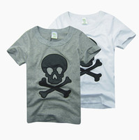 baby boy tees - Boys tees shirts tops skull tshirts cotton jersey baby boys t shirts outfits B016