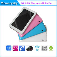 allwinner tablet support - 7inch dual core tablet pc V support GSM G phone call allwinner A23 cellphone SIM slot M GB bluetooth Dual Camera Tablet PC