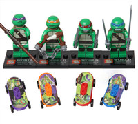 Wholesale Action Figures Minifigures styles a set suit with arms skateboard Mirage Teenage Mutant Ninja Turtles