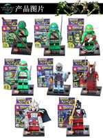 Action Figures Minifigures 8styles a set suit with arms skat...