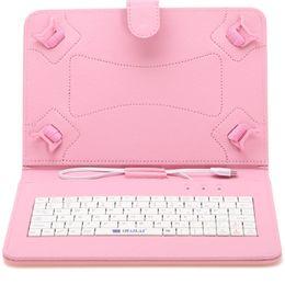 Soportar pulgadas en Línea-iRulu cuero del teclado de 9 pulgadas Para el caso del soporte de 9 pulgadas de 8,9 pulgadas Tablet PC phablet