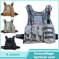 Wholesale Hot Sale Military Molle Tactical Vest Hunting Camouflage Clothes Outdoor Cs Uniform Steel Wire Vest HT13
