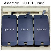 For Apple iPhone LCD Screens  Full Set Original LCD Display + Touch Screen Digitizer For iPhone 4 4G CDMA 4S 5 5S 5C Assembly Replacement Repair Parts White Black